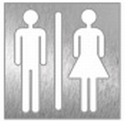 pictogram WC unisex,